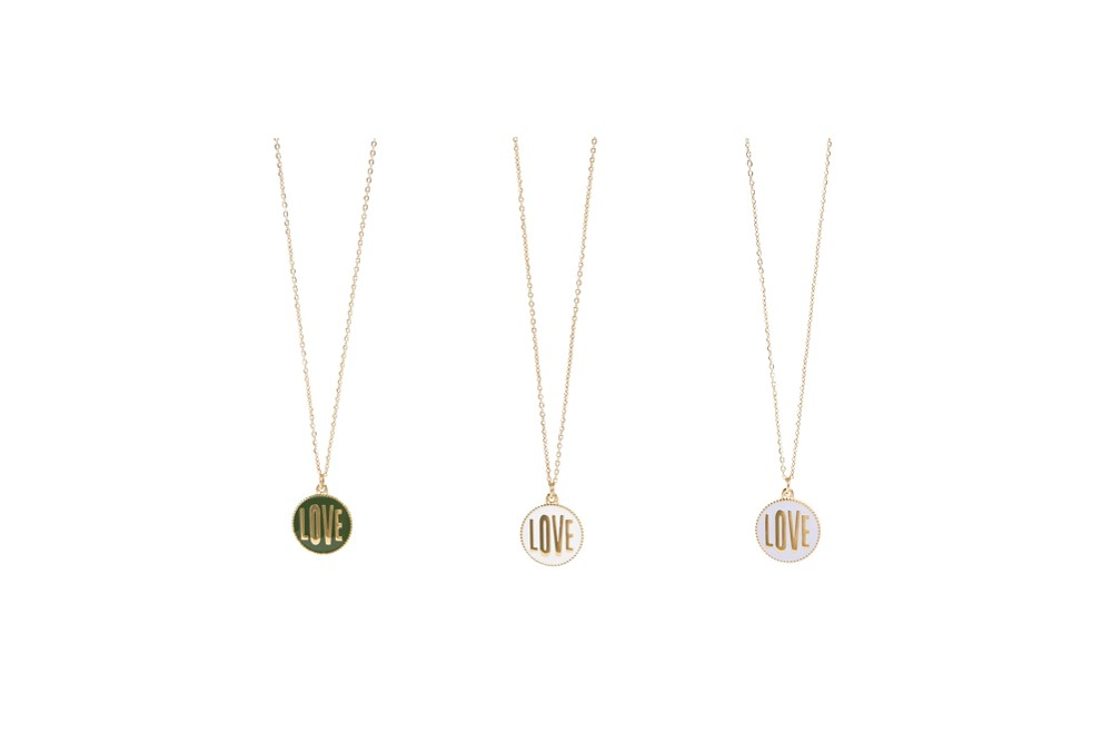 The Necklace Love Color Gold Out & Light Grey | Silis Charm Necklace