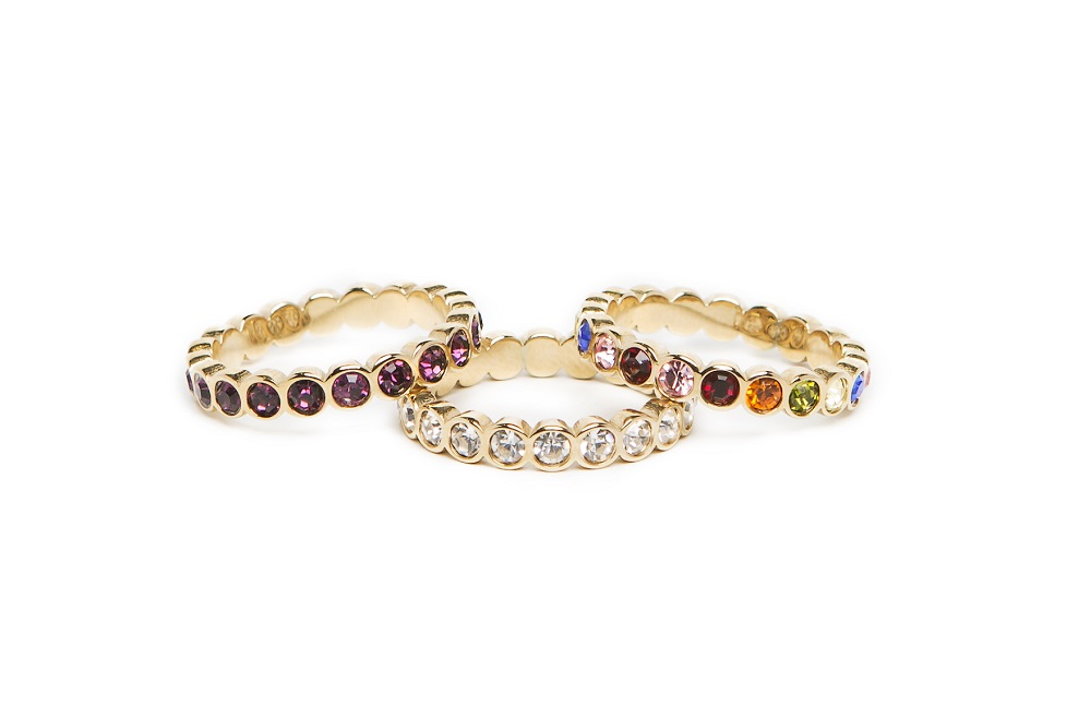 The Ring Strass Gold & Rainbow Strass | Silis Multi-Stone Ring