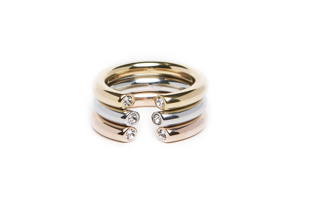 The Ring Hidden Strass So Silver | Silis Stackable Ring