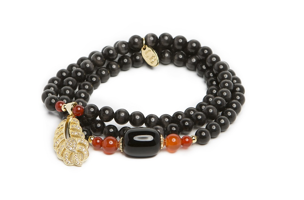INDIA | DEEP BLACK & GOLD BRACELET