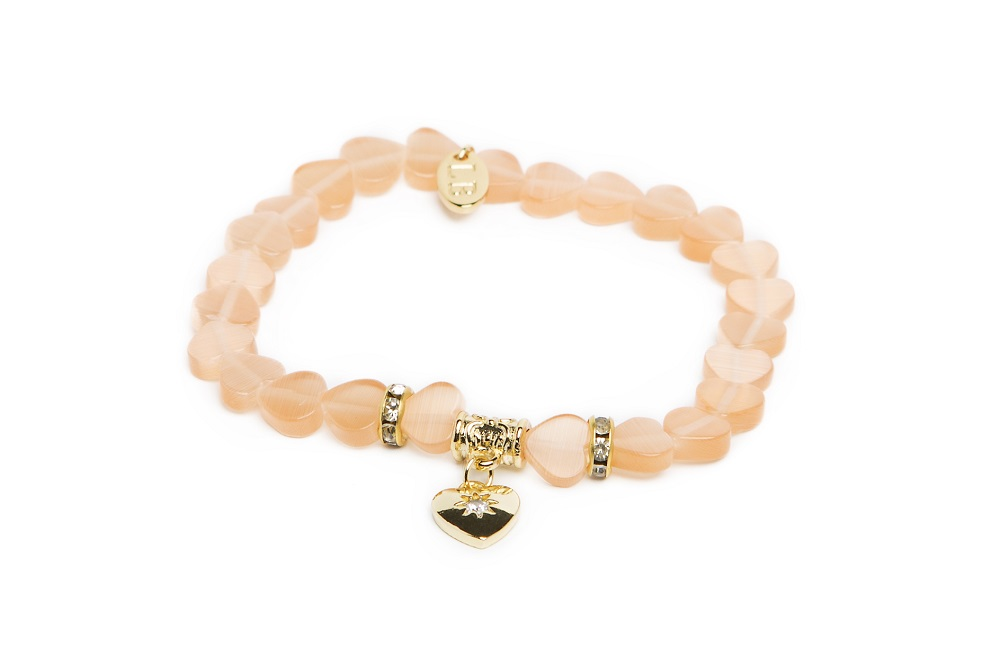 CALCUTTA | SOFT PEACH & GOLD BRACELET