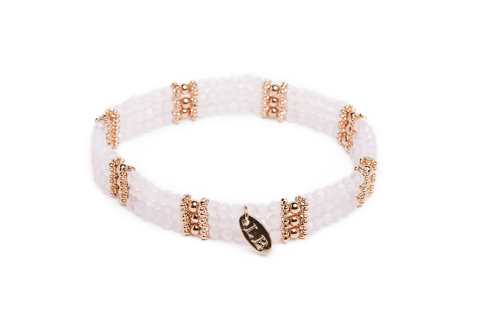 New Delhi Powder Pink & Pink Gold | Labussé Bracelet