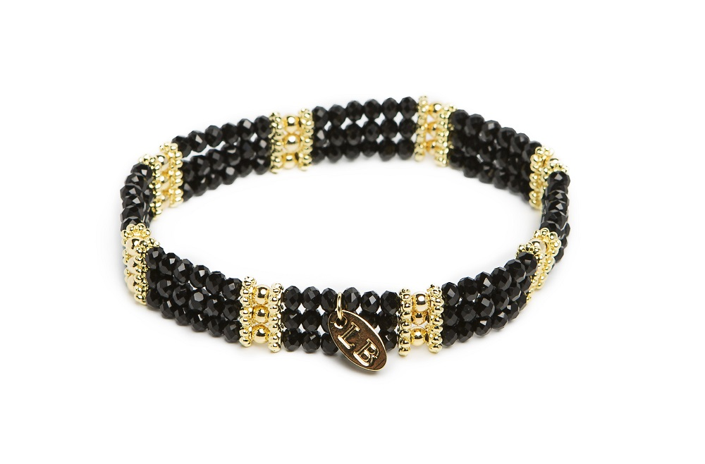 New Delhi Deep Black & Gold | Labussé Bracelet
