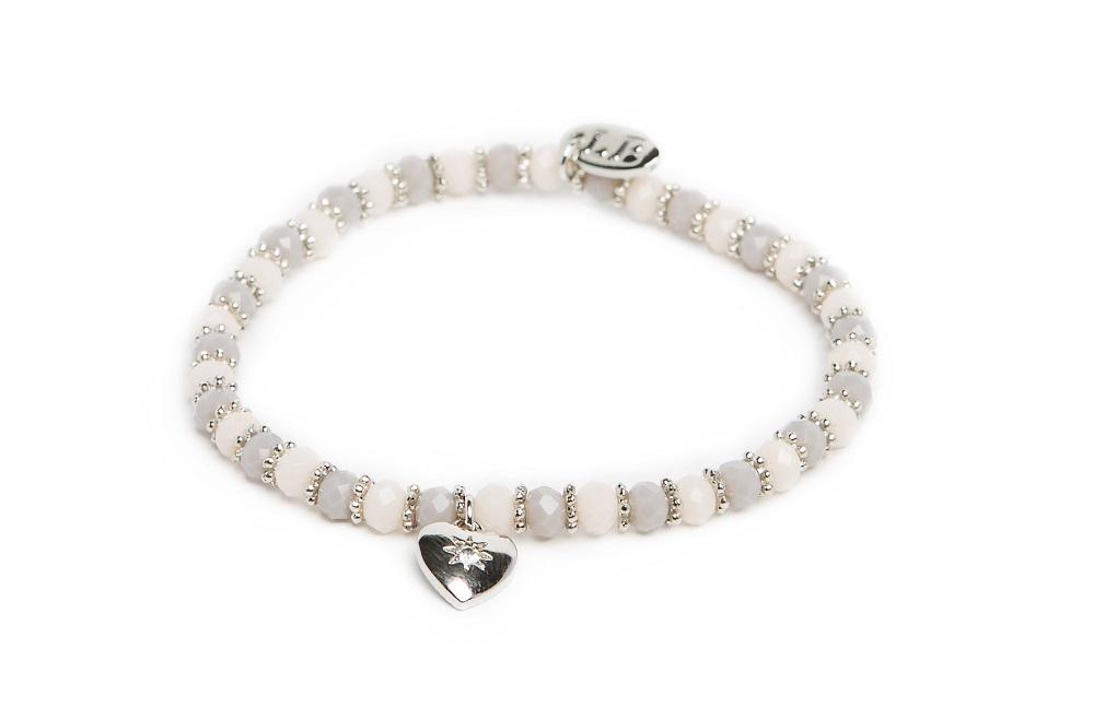 Ganges Soft Grey & Silver | Labussé Bracelet