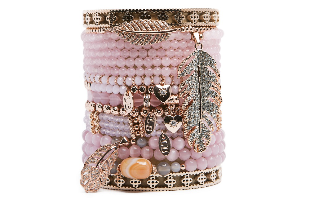 Calcutta Soft Peach & Gold | Labussé Bracelet