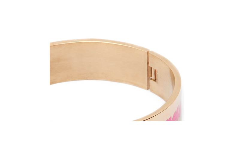 THE BANGLE XL | GOLD OUT & PINK ENAMEL