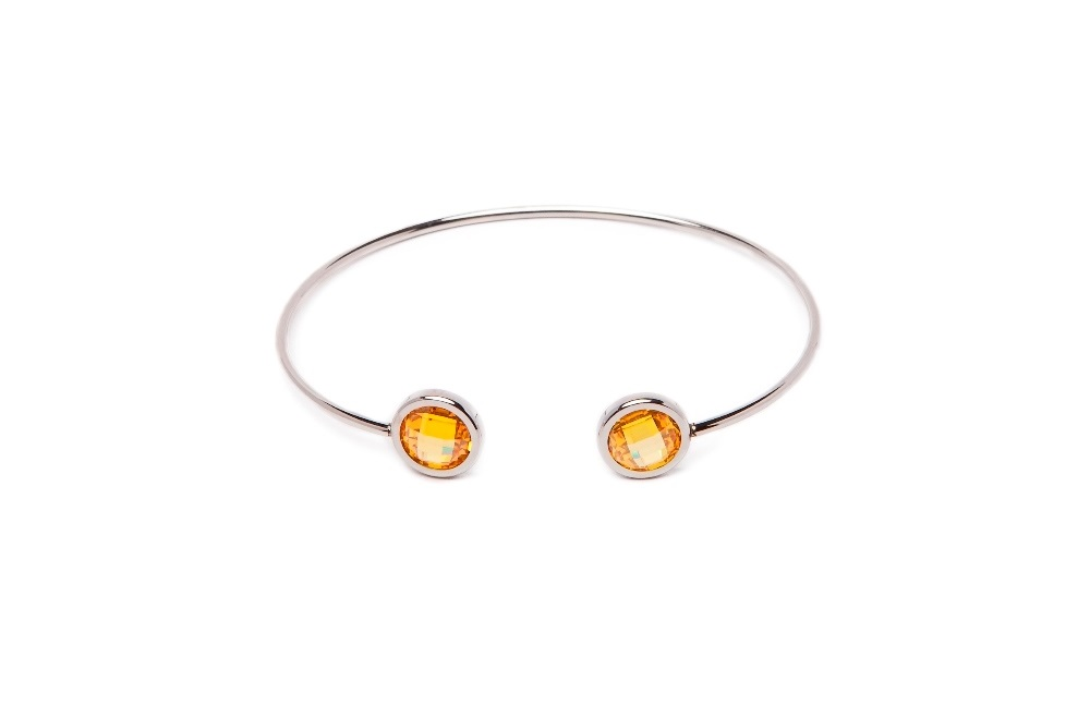 The Esclave Color Silver & Yellow | Silis Clamp Cuff Bracelet