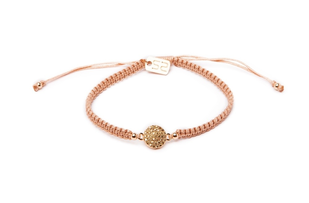The Color Cord Nudes & Strass Round | Silis Bracelet
