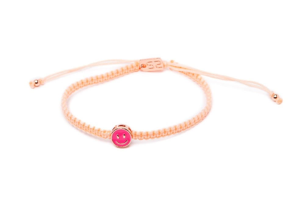 The Color Cord Peach Please & Smiley | Silis Bracelet