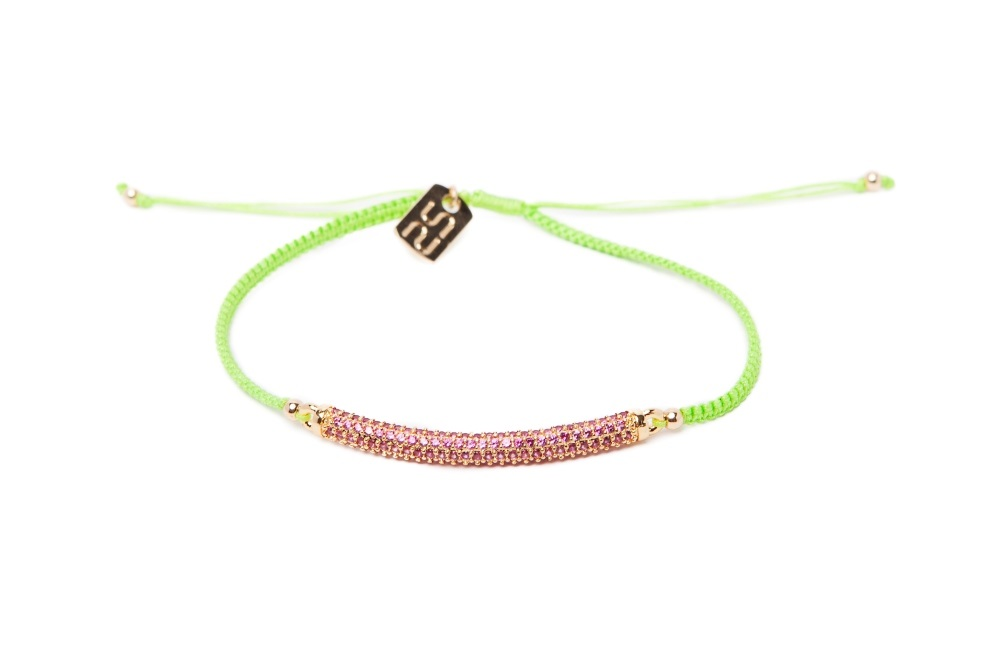 The Strass Handmade Fresh Green | Silis Bracelet