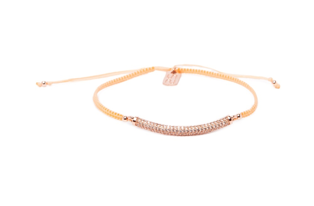 The Strass Handmade Peach Please | Silis Bracelet
