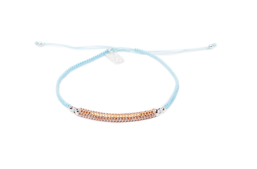 The Strass Handmade Baby Blue By You | Silis Bracelet