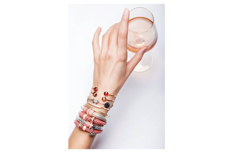 The Snake Strass So Silver & Crab | Silis Bracelet