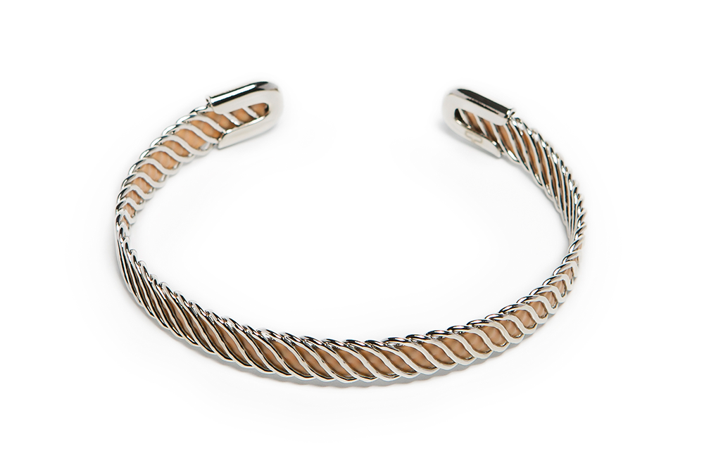 The Esclave Color Silver & I'm So A Nudes | Silis Clamp Cuff Bracelet