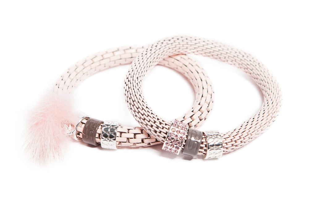 The Snake Strass | Marshmallow Pink & Tassel