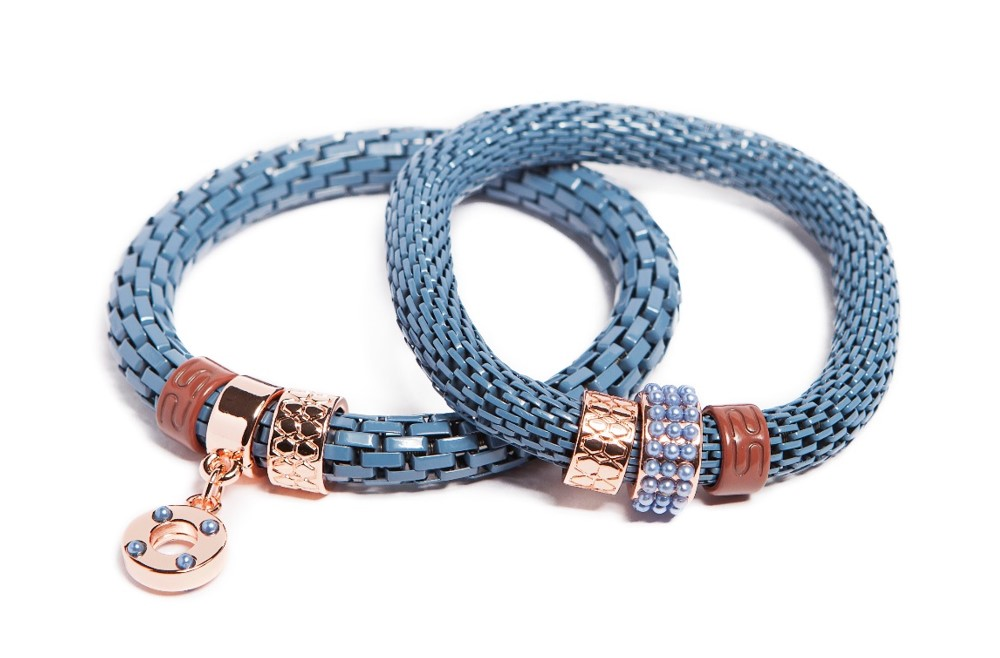 The Snake Strass Beau Winter Blue & Ring | Silis Bracelet