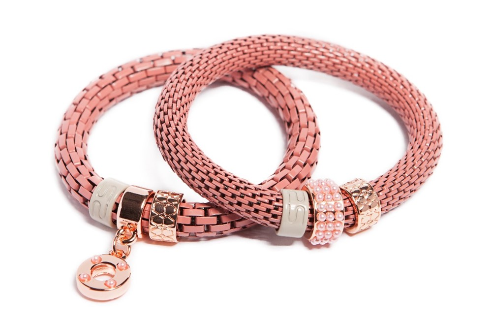 The Snake Strass Snow Cone Pink & Ring | Silis Bracelet