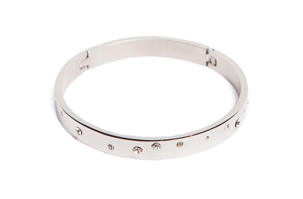 The Bangle Multistrass So Silver | Silis Bracelet