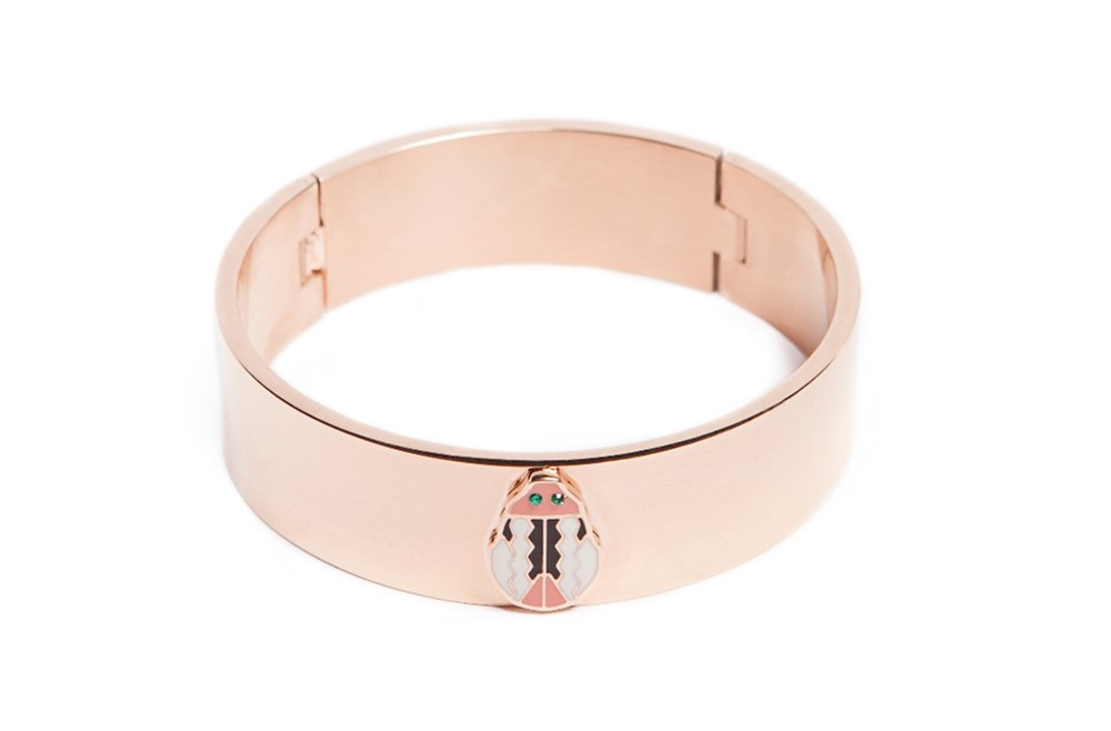 The Bangle XL Rosé All Day & Beetle | Silis Bracelet