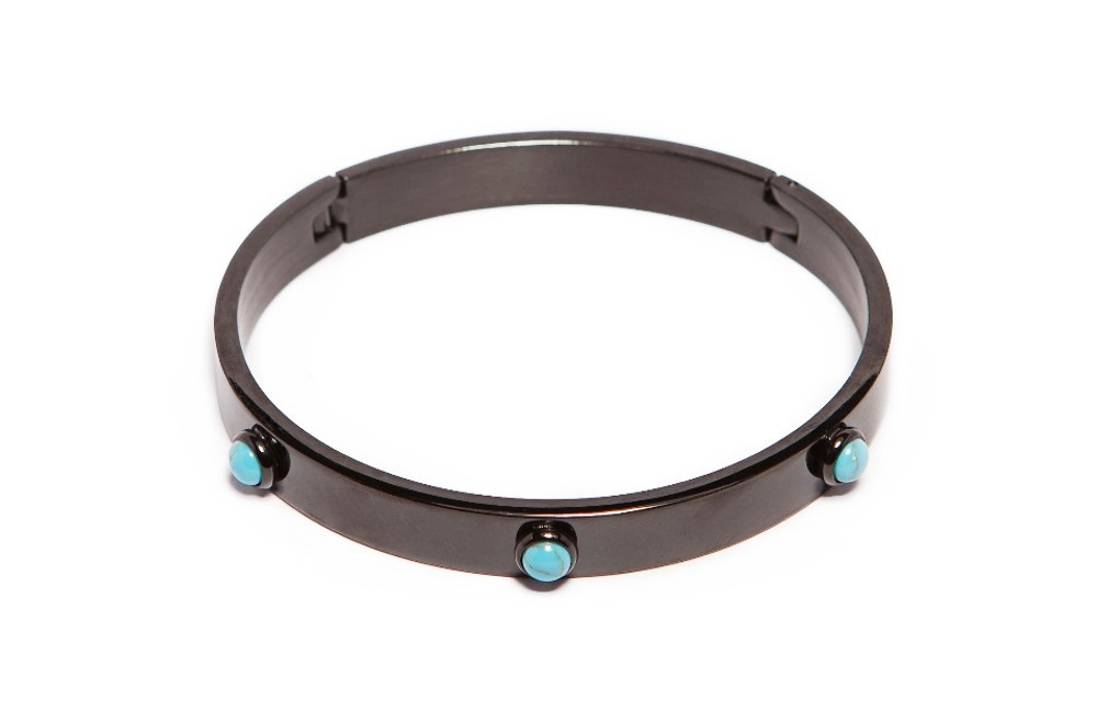 The Bangle Color Studs Classic Black | Silis Bracelet