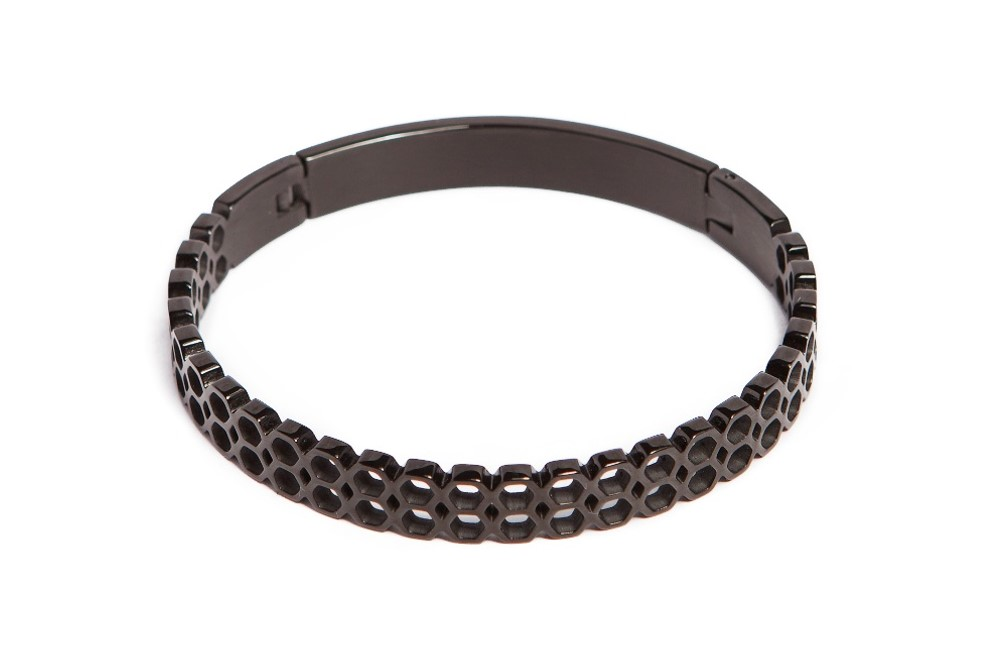 The Bangle Honey Comb Classic Black | Silis Bracelet