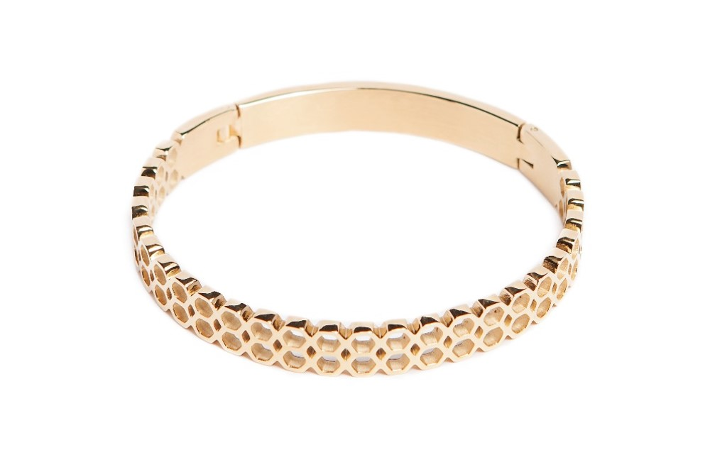 The Bangle Honey Comb Gold | Silis Bracelet