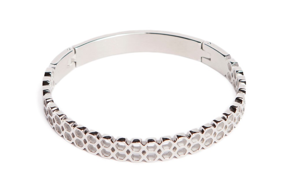 The Bangle Honey Comb So Silver | Silis Bracelet