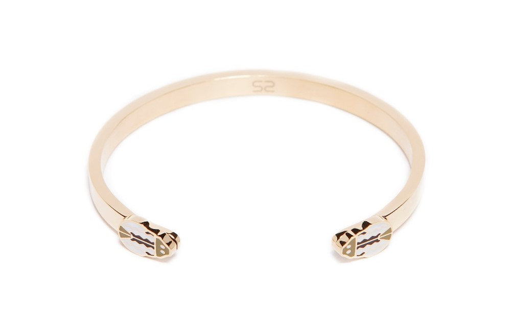 The Esclave Beetle Gold Out & Beetle | Silis Clamp Cuff Bracelet