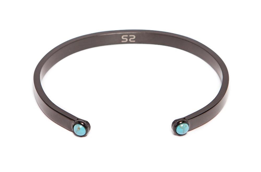 The Esclave Studs Classic Black & Studs | Silis Clamp Cuff Bracelet