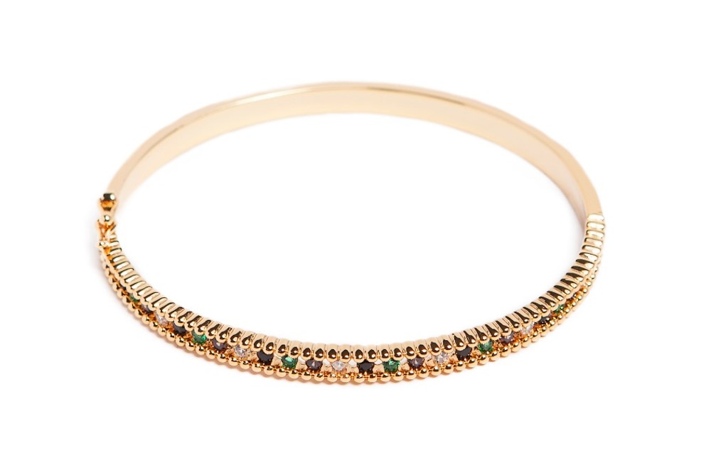 The Bangle Xsmall Strass | Gold Out