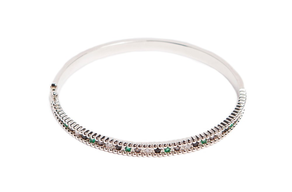 THE BANGLE XSMALL STRASS | SO SILVER
