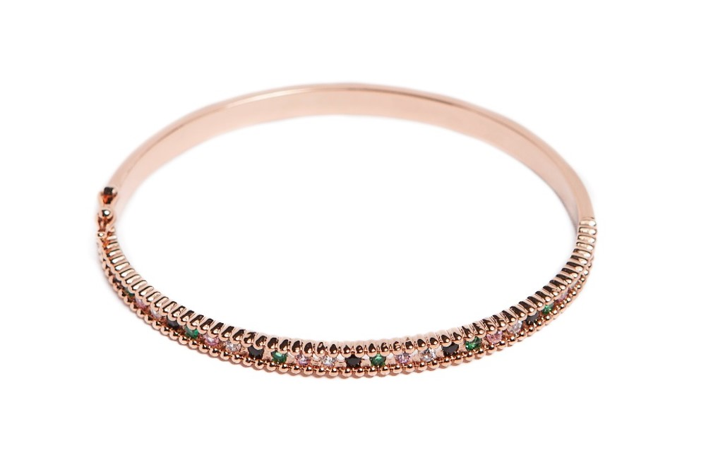 THE BANGLE XSMALL STRASS | ROSÉ ALL DAY