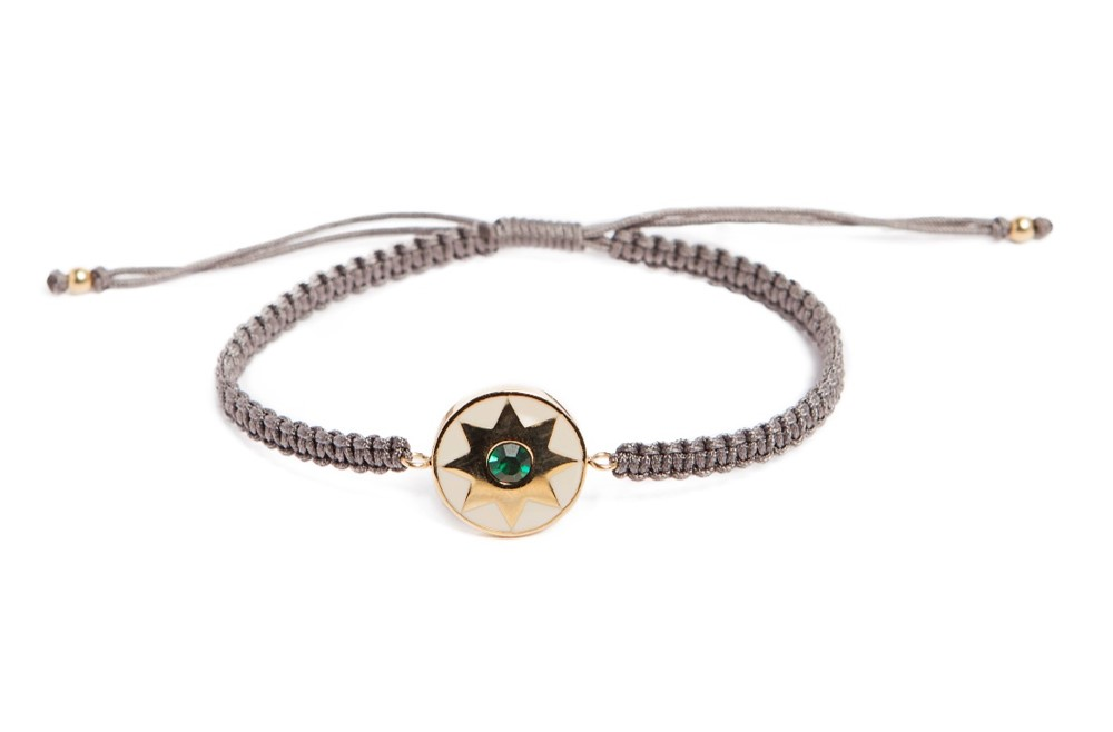 The Color Cord Take Me Inside Taupe & Star Charm | Silis Bracelet