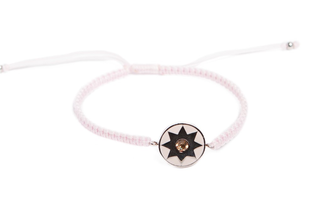 The Color Cord Marshmallow Pink & Star Charm | Silis Bracelet