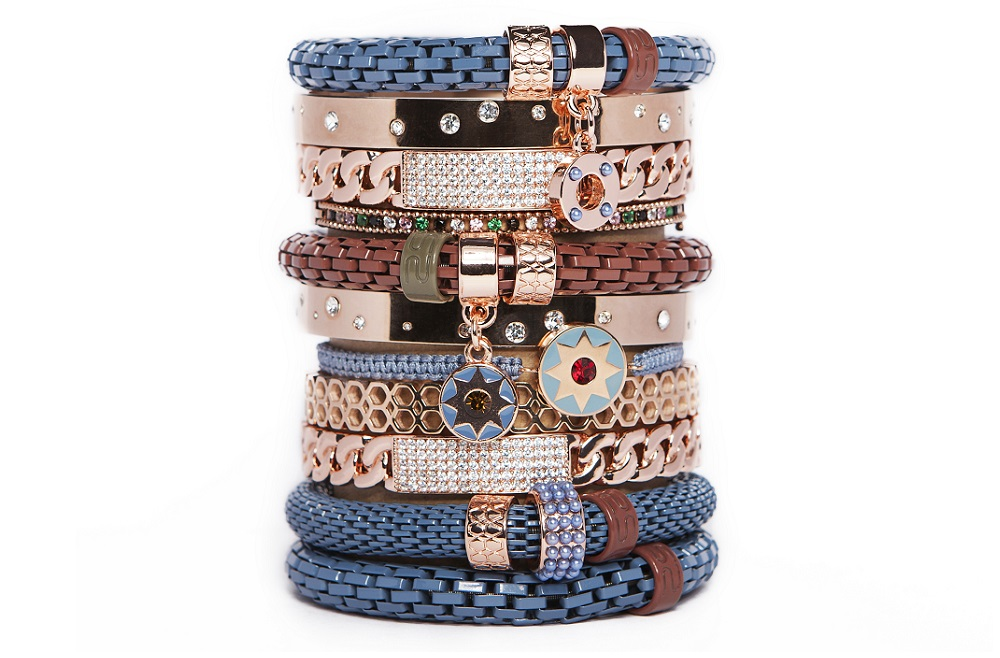 The Color Cord Beau Winter Blue & Star Charm | Silis Bracelet