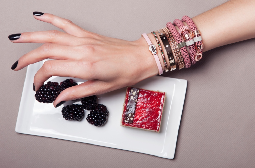The Bangle Honey Comb Rosé All Day | Silis Bracelet