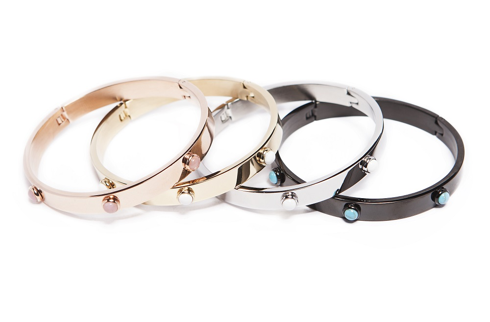 The Bangle Color Studs Rosé All Day | Silis Bracelet