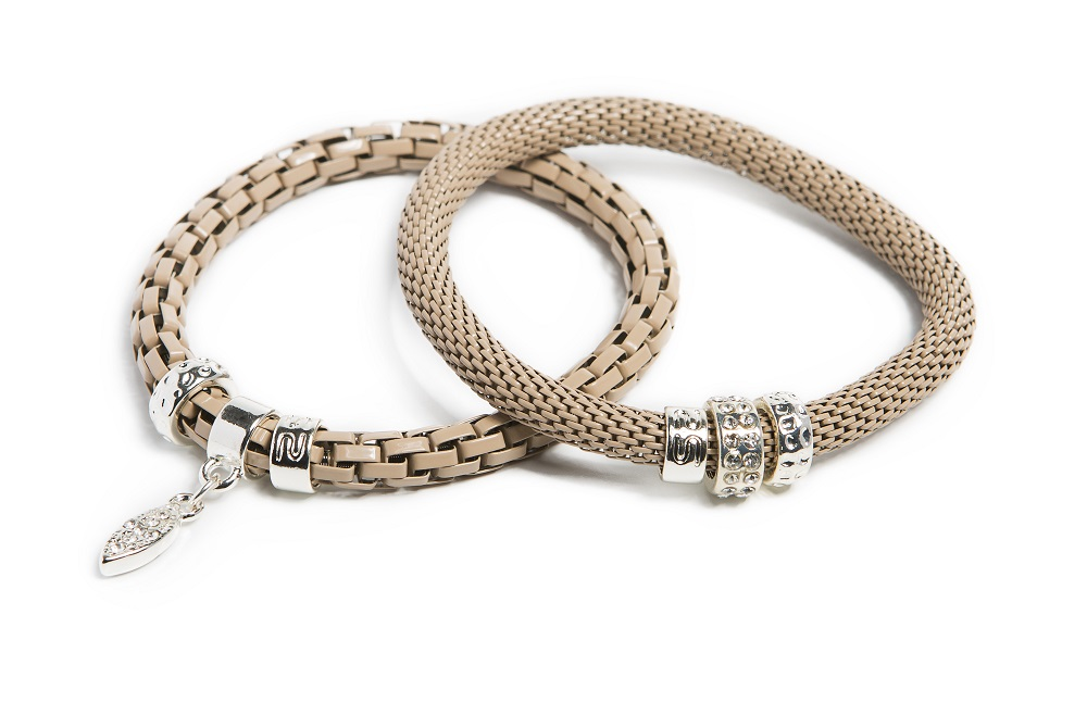 The Snake Strass Gypsy Camel & Oval Strass Cross | Silis Bracelet