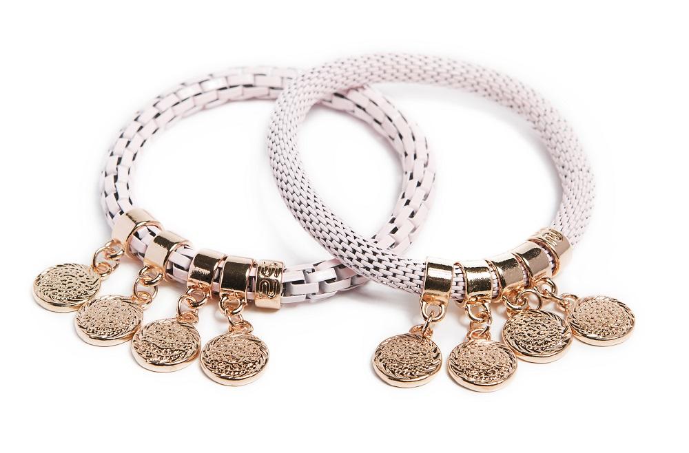 Pink Pepper & Shake Ur Coins Bracelet | Silis Armband