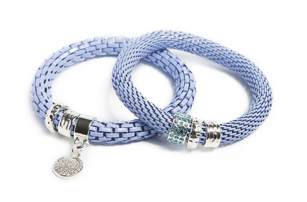 The Snake Strass Blue Mist & Charmed Coin | Silis Bracelet