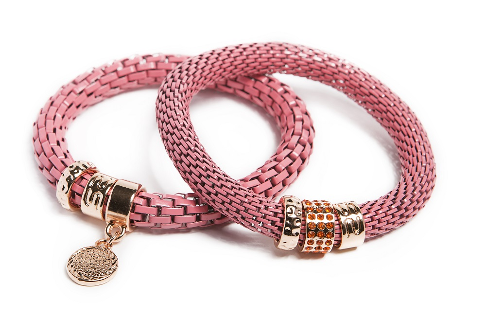 The Snake Strass Apricot Candy & Charmed Coin | Silis Bracelet