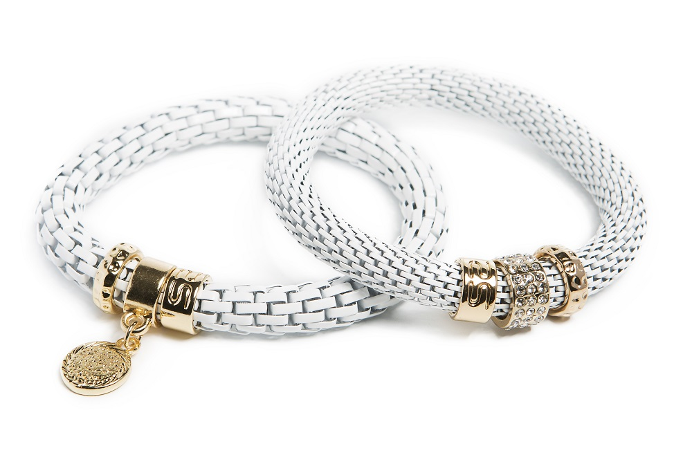 The Snake Strass White Magic & Charmed Coin | Silis Bracelet