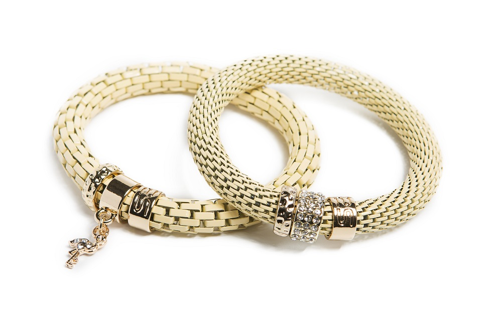 The Snake Strass Yammy Yellow & Flamingo Charm | Silis Bracelet