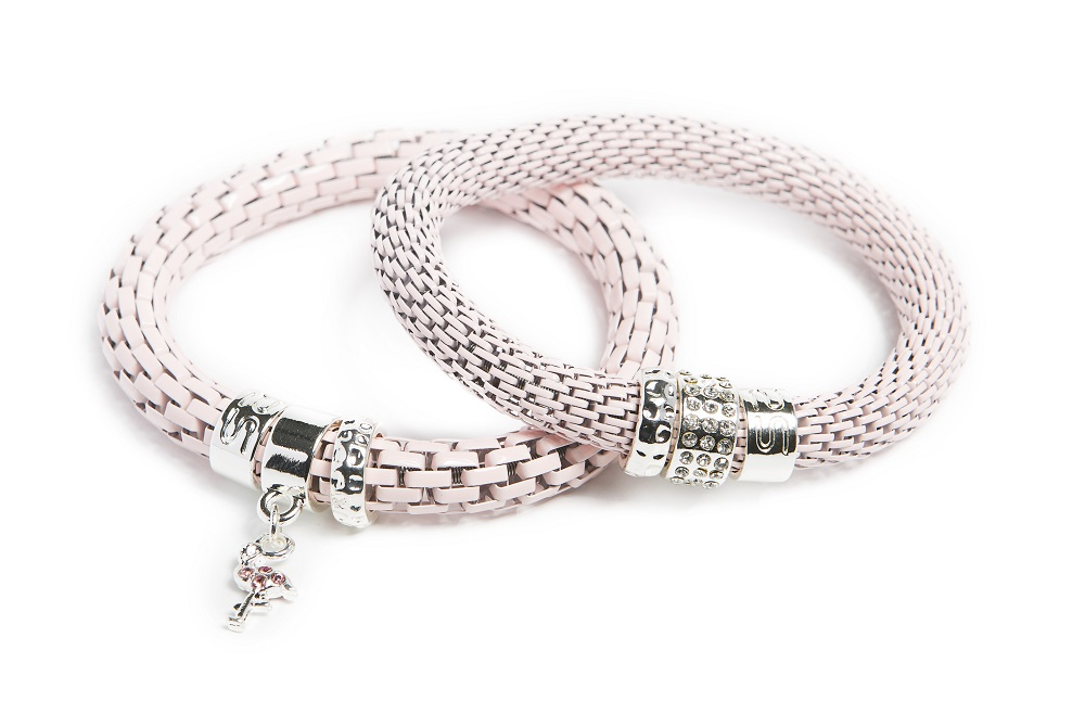 The Snake Strass Pink Pepper & Flamingo Charm | Silis Bracelet