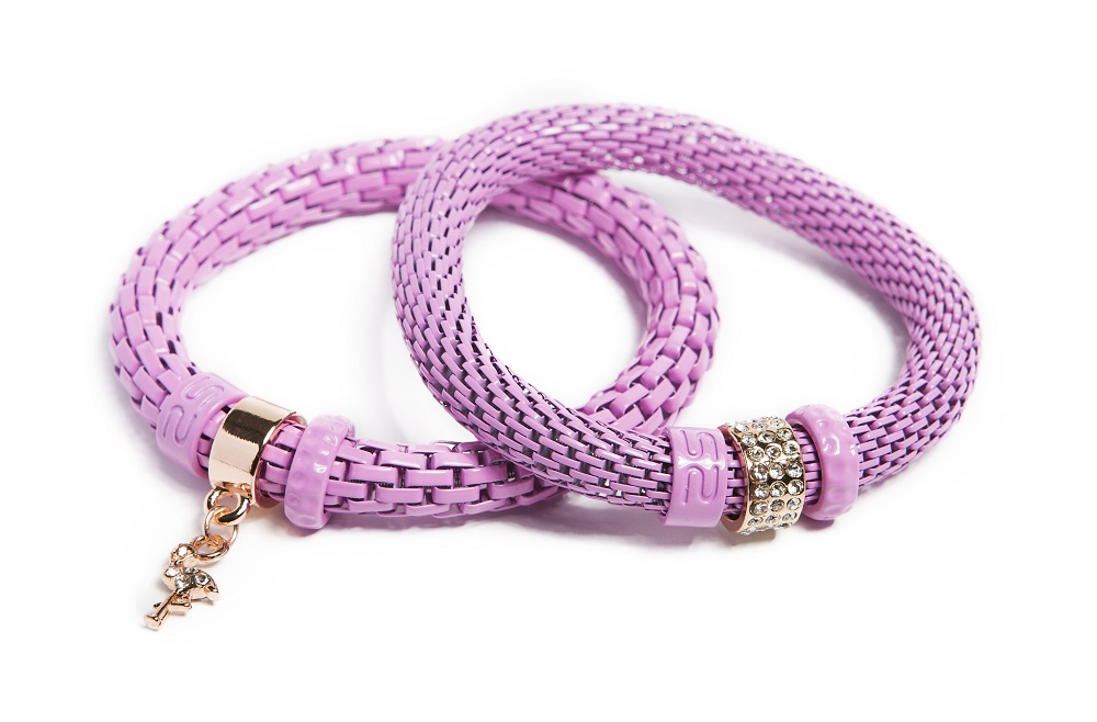 The Snake Strass Raspberry Pink & Flamingo Charm | Silis Bracelet