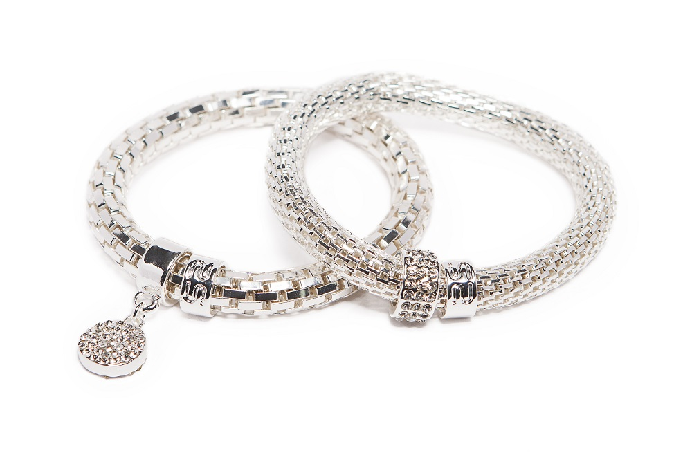 The Snake Metal Strass So Silver & Strass Round | Silis Bracelet