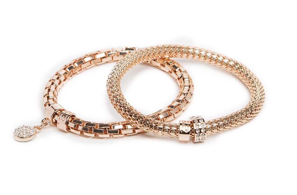 New Ø5.5mm The Snake Metal Strass Rosé All Day & Strass Heart | Silis Bracelet