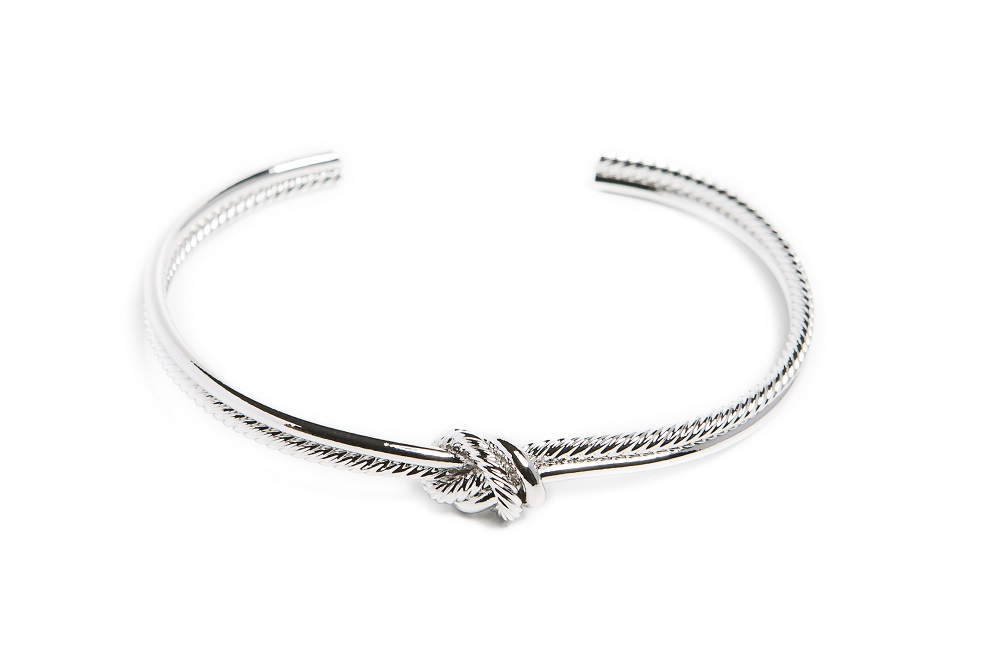 The Esclave Knot So Silver | Silis Clamp Cuff Bracelet