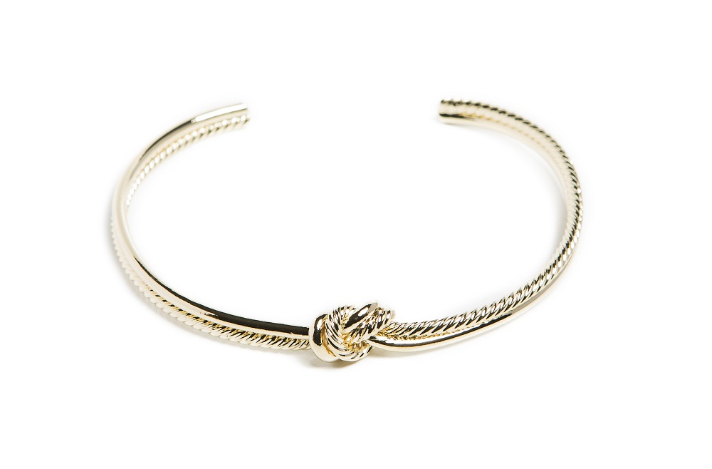 The Esclave Knot Gold Out | Silis Clamp Cuff Bracelet