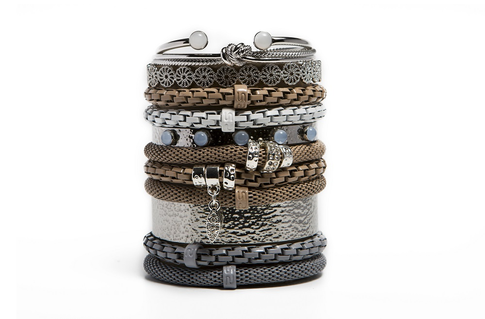 Morning Dawn Grey & Shake Ur Coins Bracelet | Silis Armband